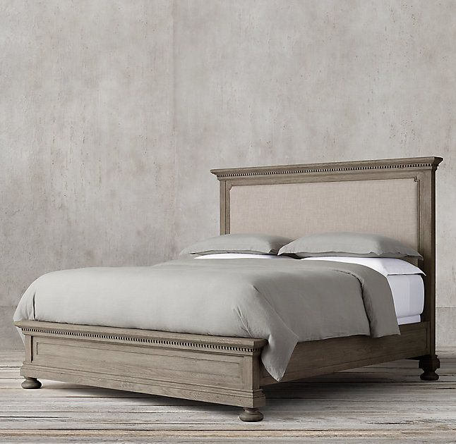 Rh 39 S St James Upholstered Bed Evoking The Architectural Classicism Of Turn Of The Traditional Bedroom Furniture Classic Bedroom Furniture Fabric Panel Bed