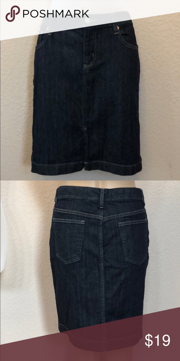 7b9fd06292f EUC Gap Indigo Denim Pencil Skirt WORN ONCE My Manny is Size XSmall Skirt  Pinned for Display GAP Dresses