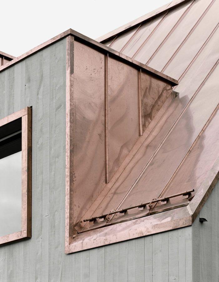 Copper Roof Concrete Facade Architecture Exterior Architecture Details Architecture