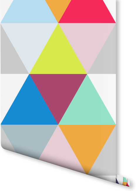 Colorful Geometric Triangles Wallpaper | Milexa