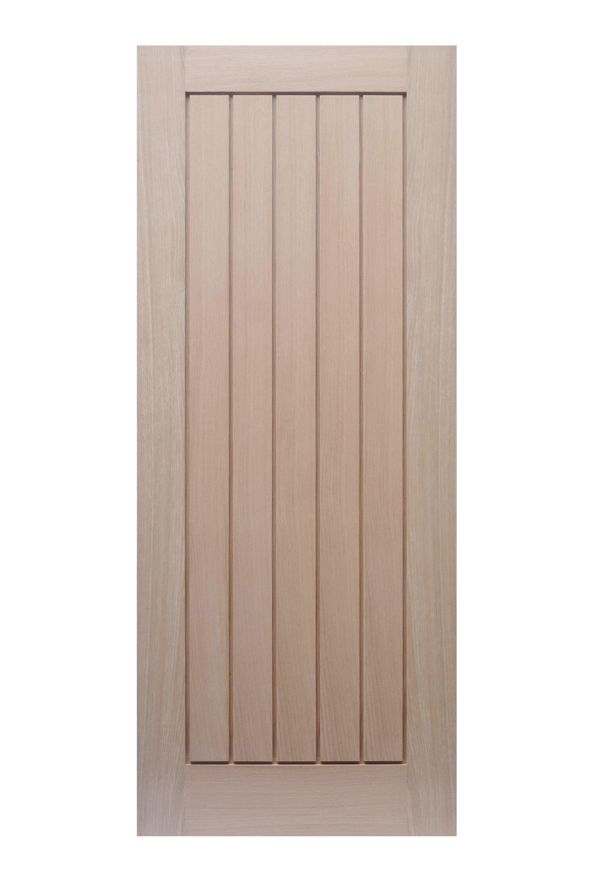 Wickes Geneva Internal Cottage Oak Veneer Door 5 Panel 1981 x 762mm ...