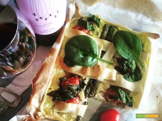 Torta Salata Bufalina e Verdure  #ricette #food #recipes