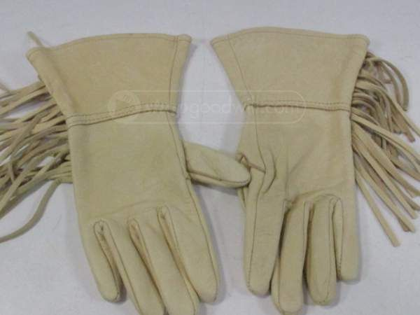 shopgoodwill.com: Pair Of Double Diamond Gloves With Fringe