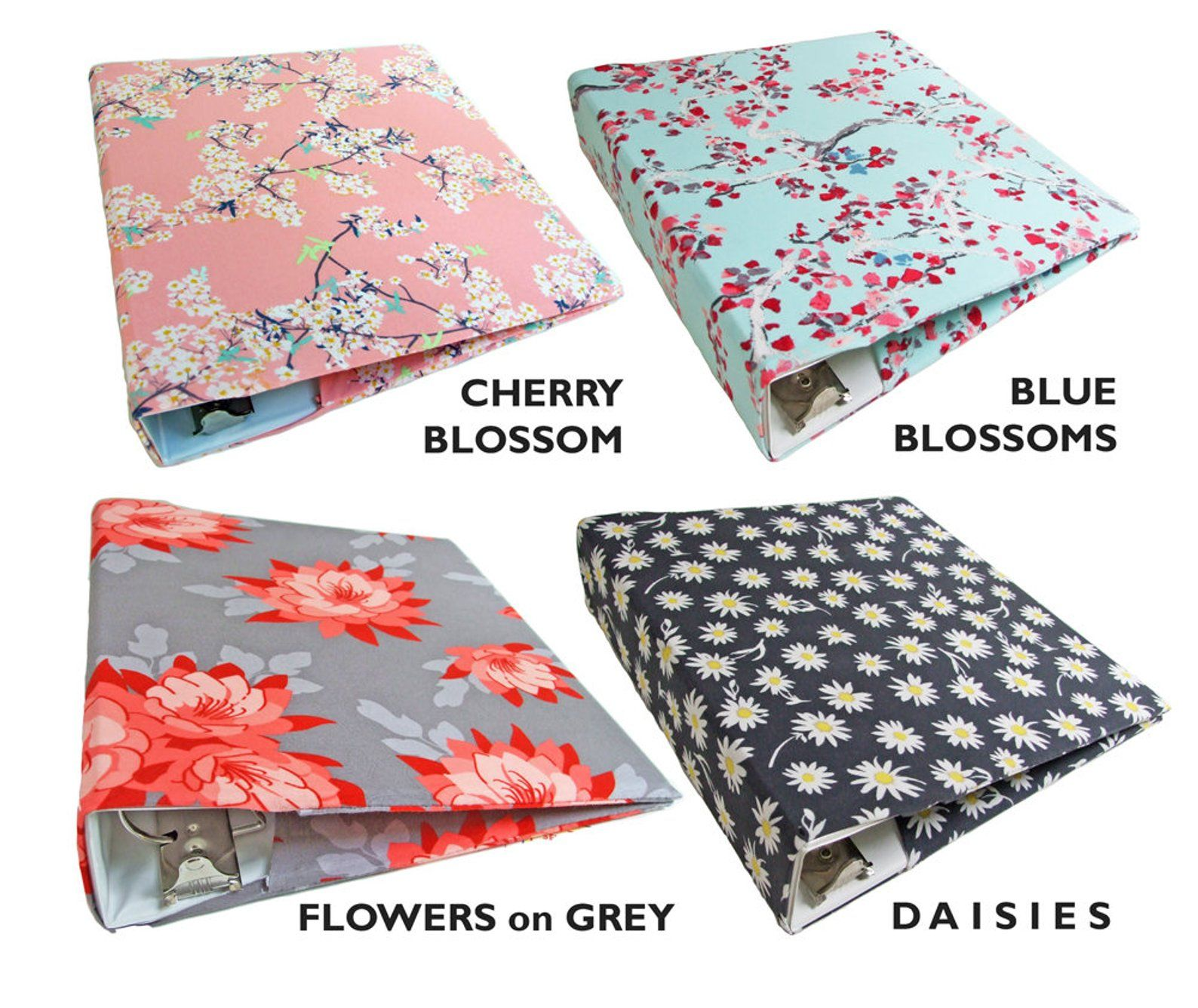 Stretch FLORAL BINDER COVER You Choose Fabric Binder Cover