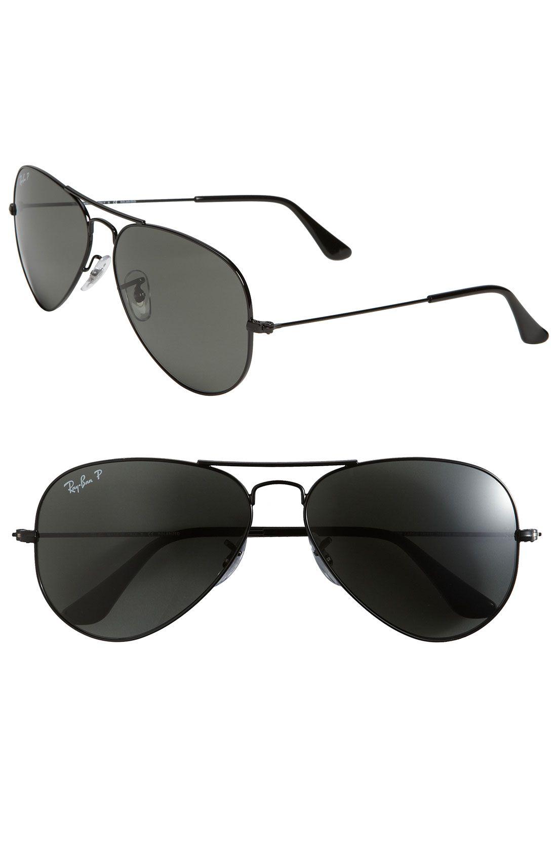 dfacd545590 Ray-Ban  Polarized Original Aviator  58mm Sunglasses