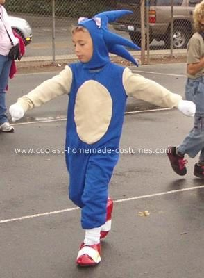 Coolest Homemade Sonic The Hedgehog Costume Sonic The Hedgehog Costume Sonic The Hedgehog Halloween Costume Sonic Costume