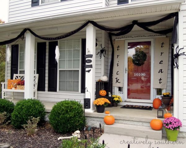 Top 17 Halloween Front Porch Decor \u2013 Unique  Easy Holiday Interior - decorating front porch for halloween