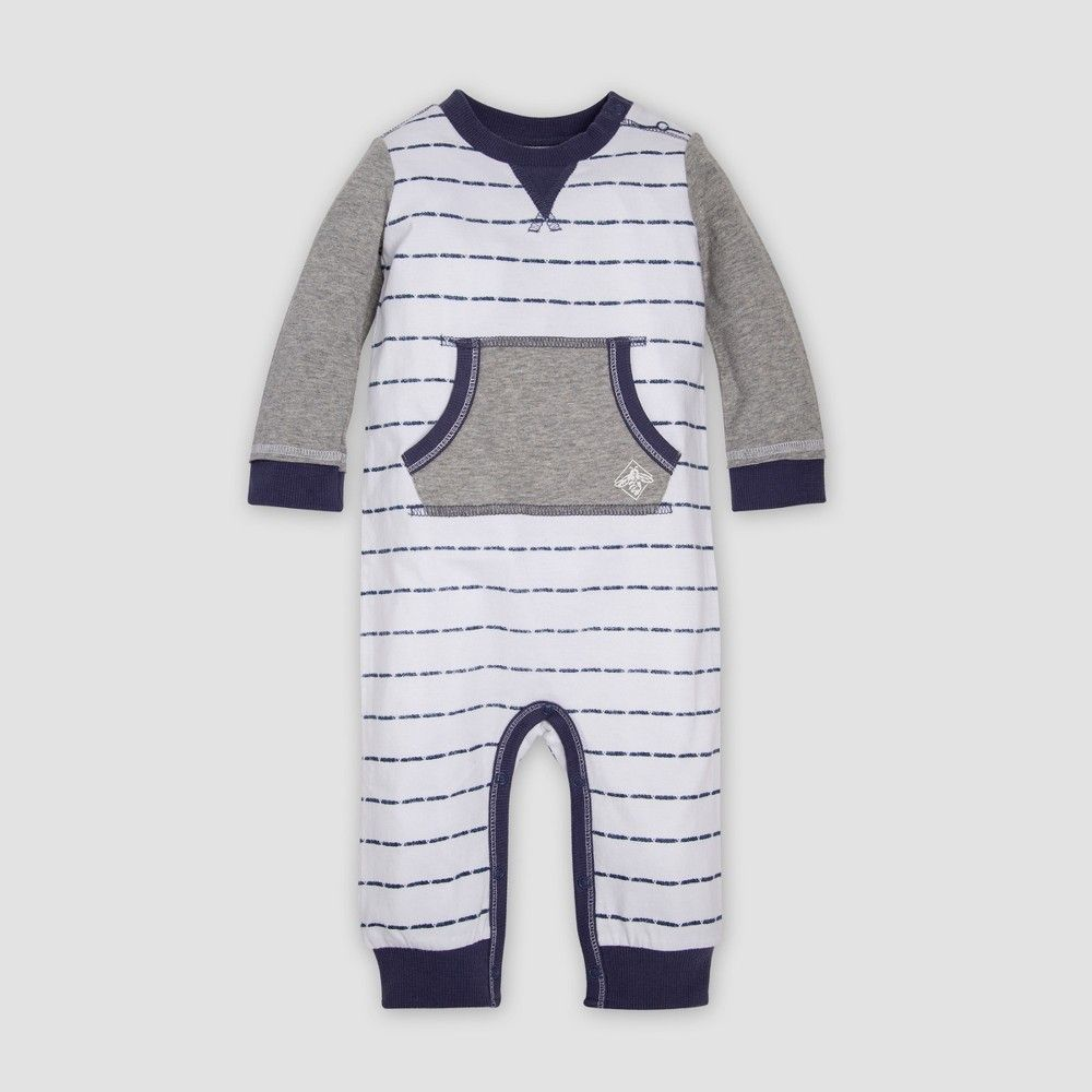 French Terry Cloth Baby Jumper Coverall Romper 100/% Cotton One-Piece Snap Pajamas with Pocket