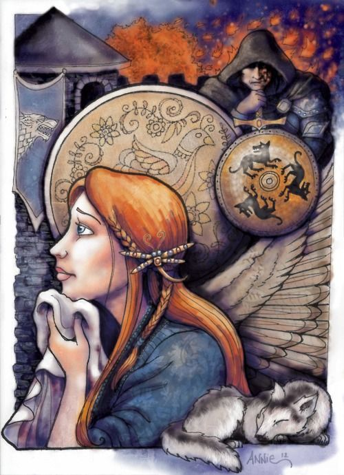 One Of The Most Perfect Works Of Sansa Fan Art That I Ve Ever Seen Its Got Everything Winterfell Di Game Of Thrones Art Sansa Stark Game Of Thrones Westeros