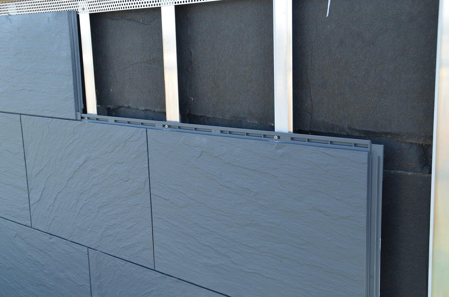 Zierer Fassadenplatten Schiefer Optik Ss1 Gfk Anthrazit