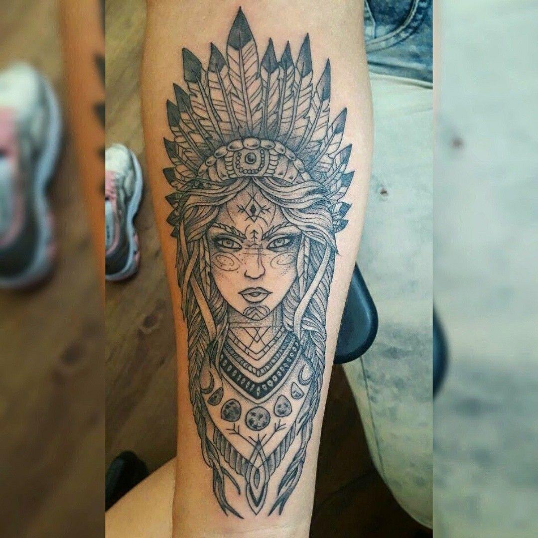 Tattoo Feita Por At Lucasrtattoo Modelo India Tattoo