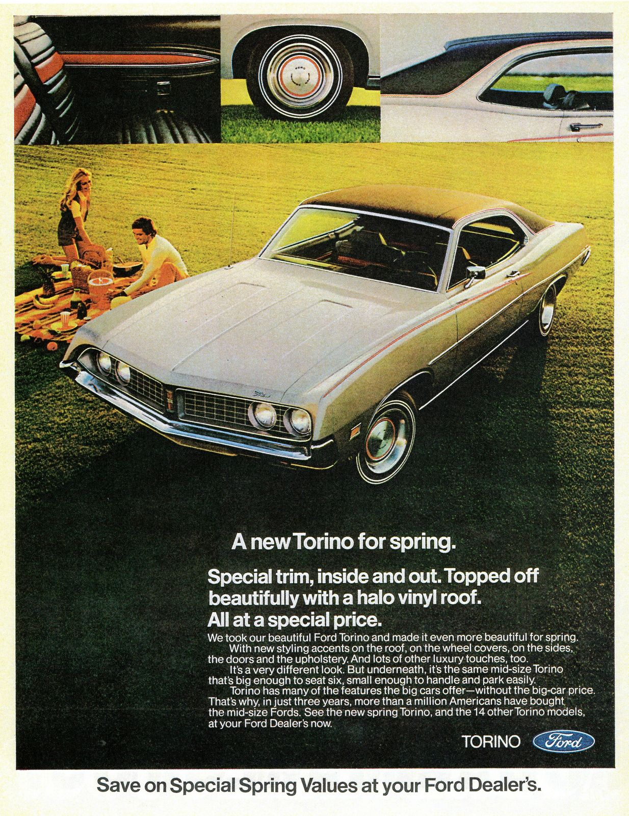 1971 Ford Torino Spring Special Ford Torino Car Print Ads Ford Classic Cars