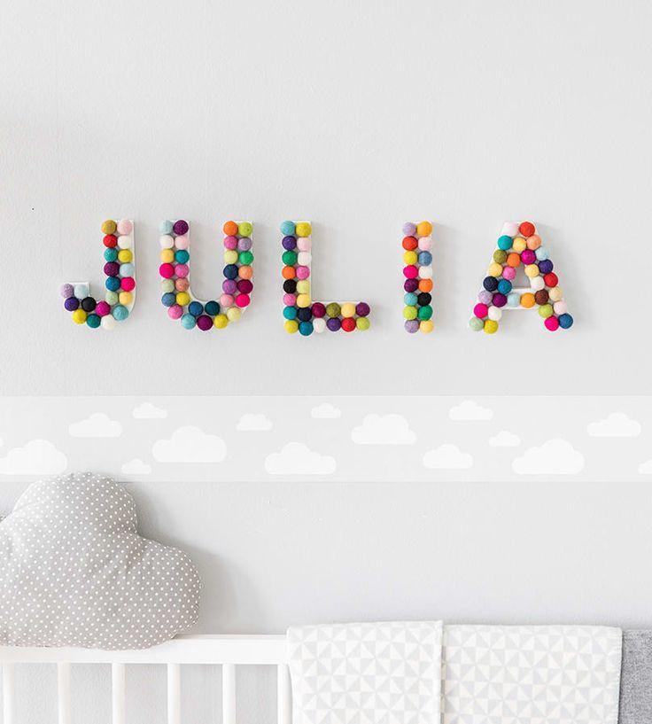 Kinderzimmer-Deko: Baby Name - Babyzimmer ideen #kinderzimmerdeko