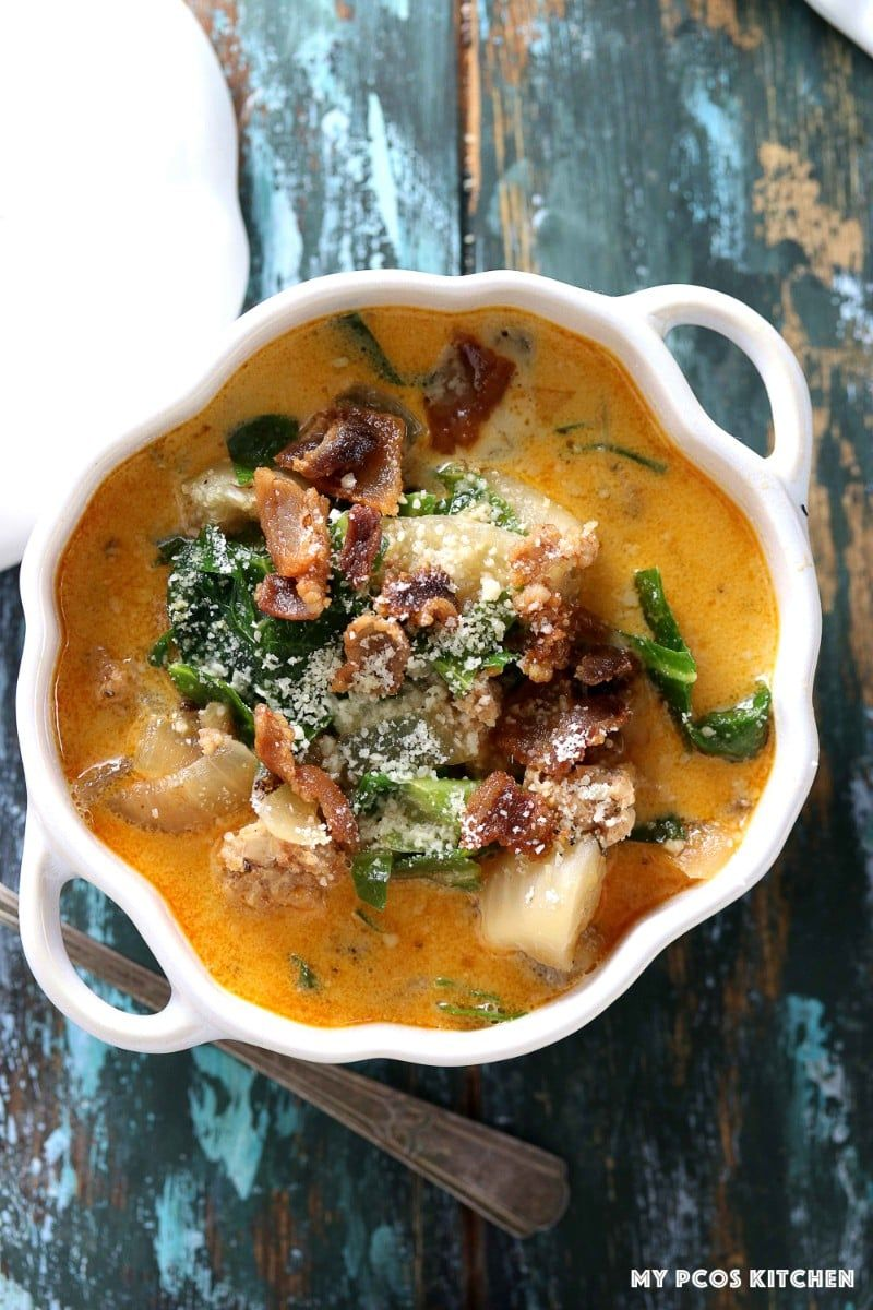 Low Carb Olive Garden Zuppa Toscana - My PCOS Kitchen - A healthier ...