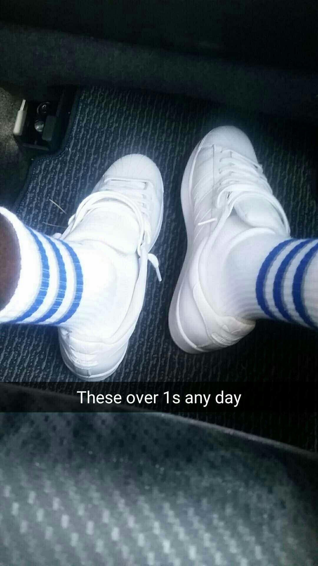 All white shell toe adidas