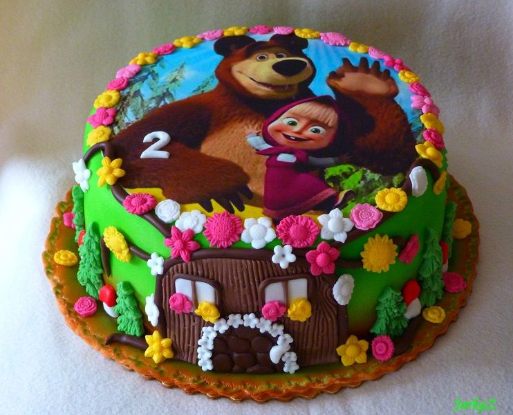 Masha and the Bear cake torta Ma a medve Lourdes Pinterest