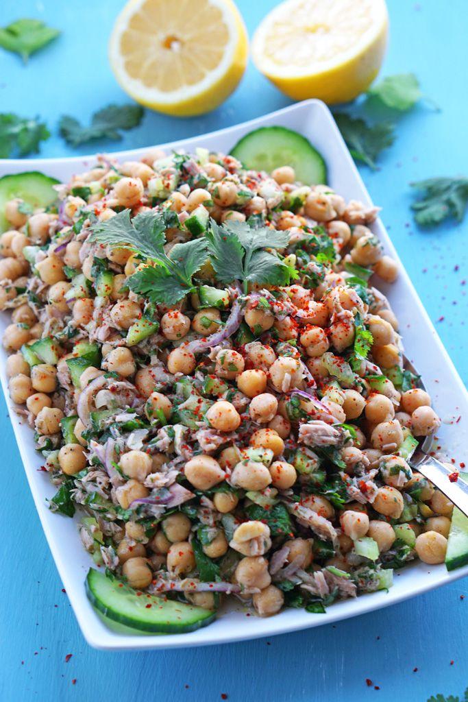 Portugiesische Kichererbsen Mit Thunfisch Rezept Kichererbsen Leckere Salate Essensrezepte