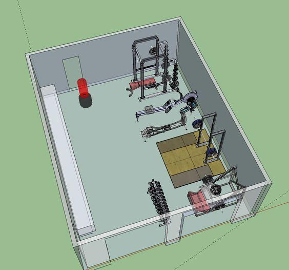 Gym Design, Gym Room At Home, Home Gym