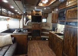 Like this layout but not finishes//// living quarters horse trailer - Bing Images