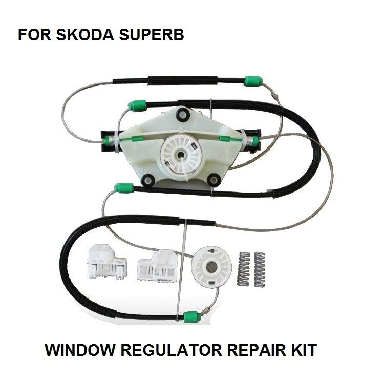 Oe 3b1837462 Car Electric Window Regulator Repair Kit For Skoda Superb Front