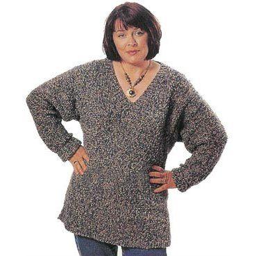 Slim-Line Tunic in Lion Brand Homespun - 827 | Knitting Patterns ...