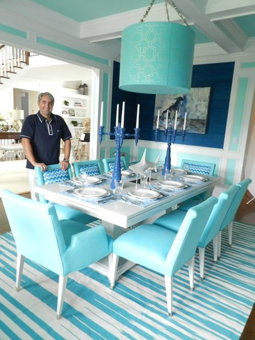 dining room was designed by Jennifer Mabley and Austin Handler, designers from the prominent Hamptons design firm Mabley Handler