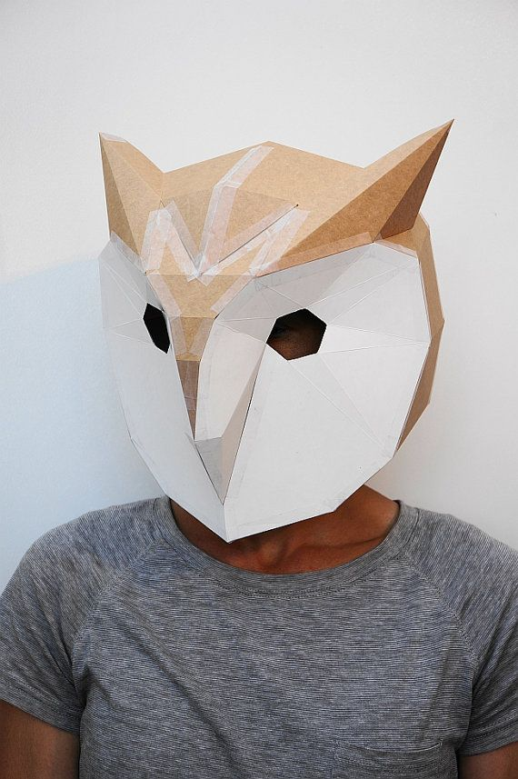 Owl Mask Make Your Own Papercraft Mask With This Simple