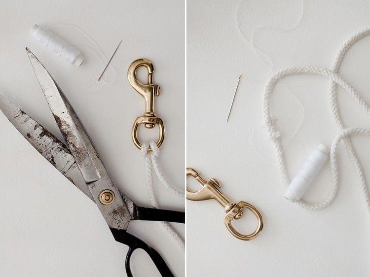 Raffhalter Selber Machen gardinen raffhalter selber machen anleitung baumwollschnur diy and