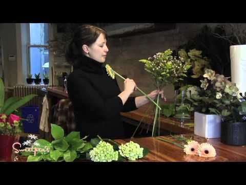 ▶ Sweetpea's :: Creating a European Hand-tied Bouquet - YouTube