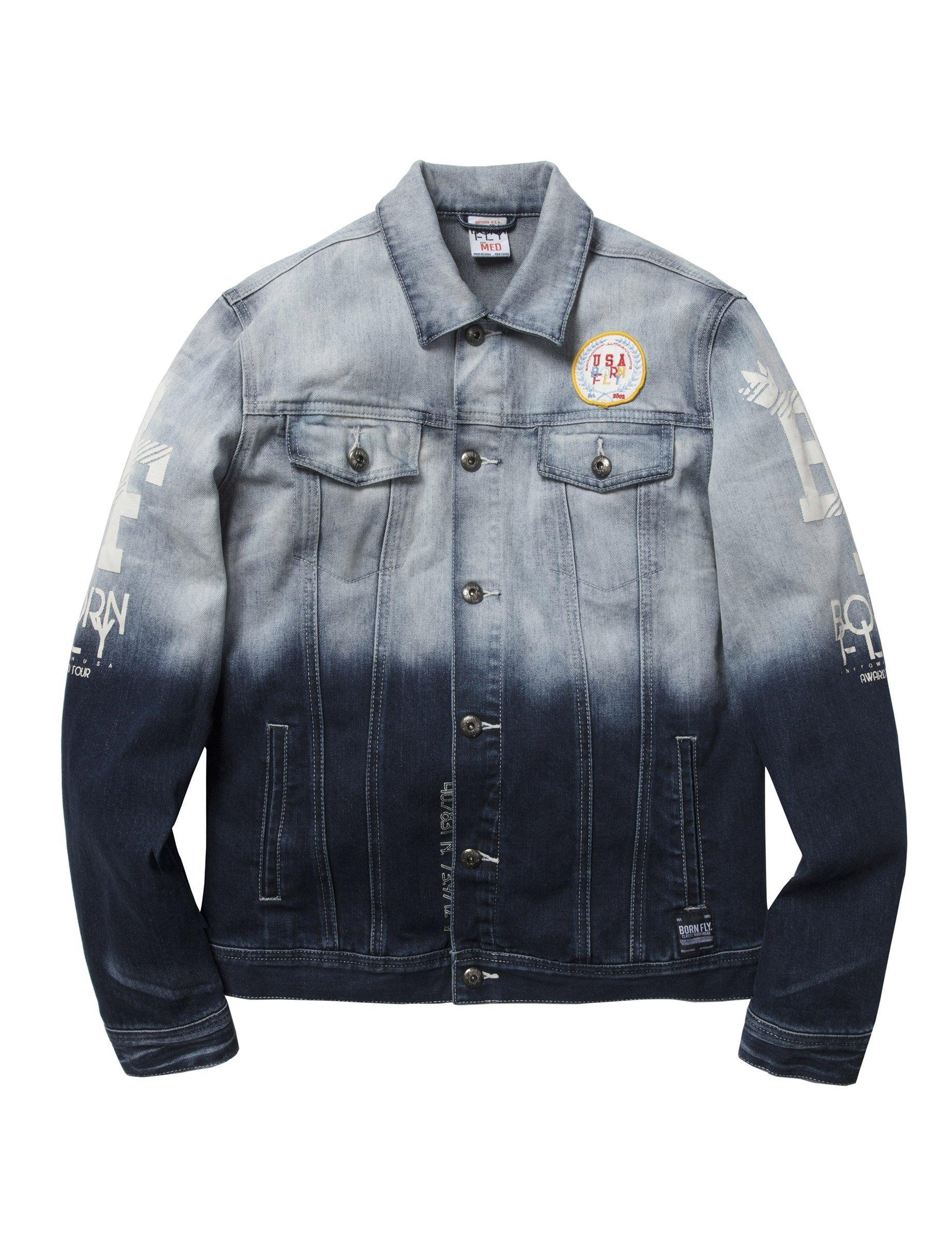 Contador Denim Jacket Mens Big And Tall Trucker Jacket Jackets [ 2400 x 1840 Pixel ]