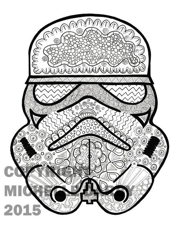Zen Stormtrooper Colouring Page Coloriage, Dessin A Colorier, Dessin Image
