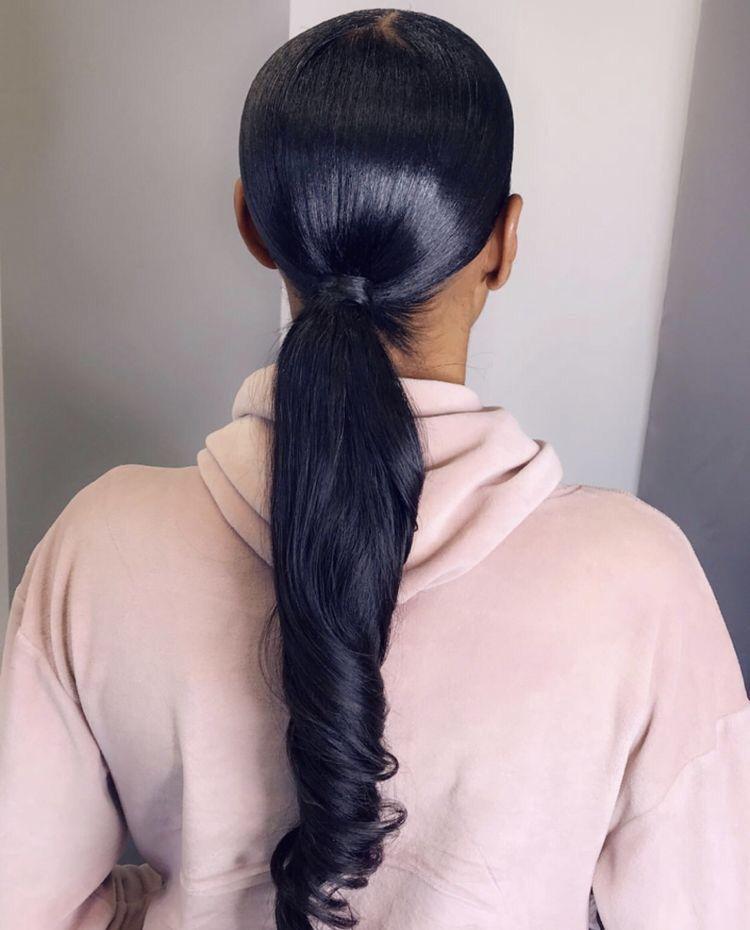 Pinterest | @ Haleyyxoo† | Black ponytail hairstyles ...