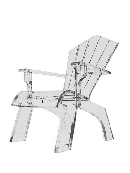 Lucite Adirondack Chair By Serge De Troyer Collection At Gilt