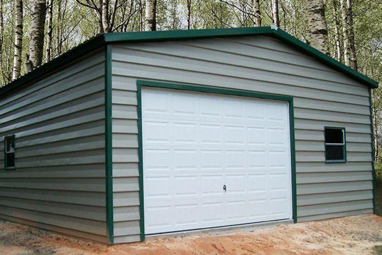 Small Steel Garage Doha Edition 18x20x9 Big Buildings Direct In 2020 Garage Door Framing Door Frame Building Systems
