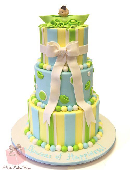 Pea in the pod baby shower cake custom baby shower cakes pea in the pod baby shower cake by pink cake box in denville nj negle Gallery