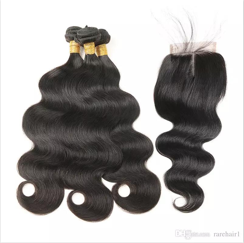 Peruvian Virgin Hair 3 Bundles With Closure Unprocessed 100 Human Hair Bundles With Lace Closure Peruvian Body Wa Human Hair Brazilian Hair Peruvian Body Wave
