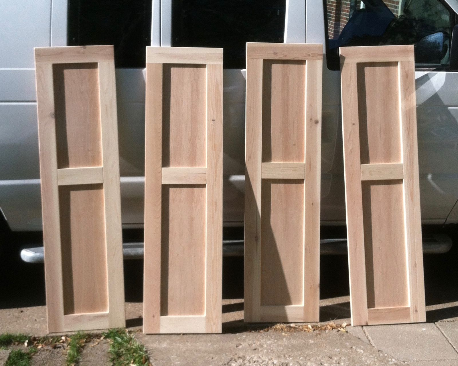 Cedar shutters unfinished shutters pinterest cedar for Wood doors and shutters