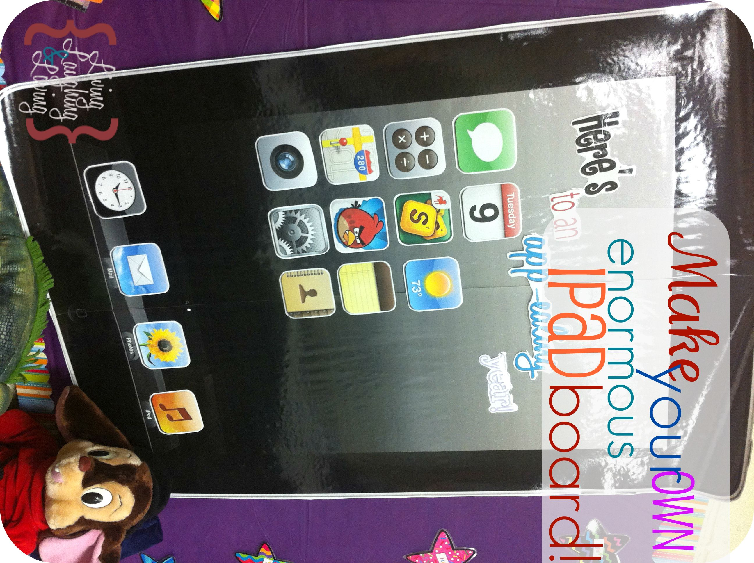 How to make your own Giant iPad Bulletin Board! | Living Laughing ...