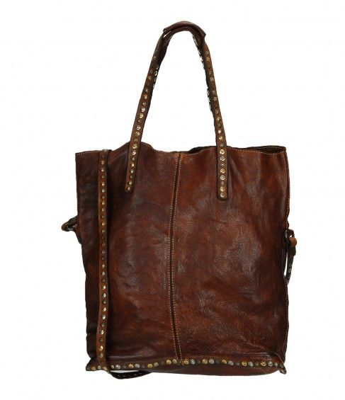 Shopping Bag Cuir Cognac - CAMPOMAGGI