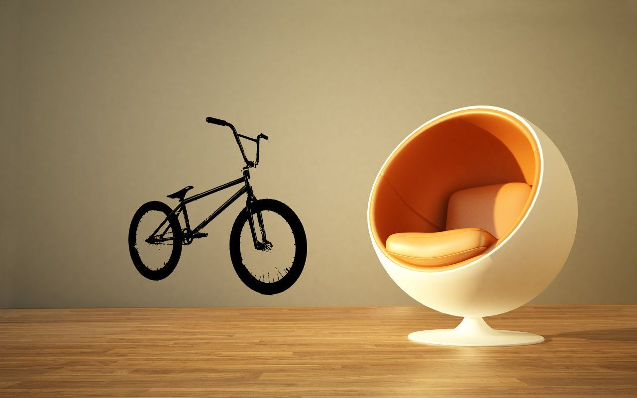 Vinyl Decal Bicycle Home Wall Art Decor Removable Stylish Sticker ...