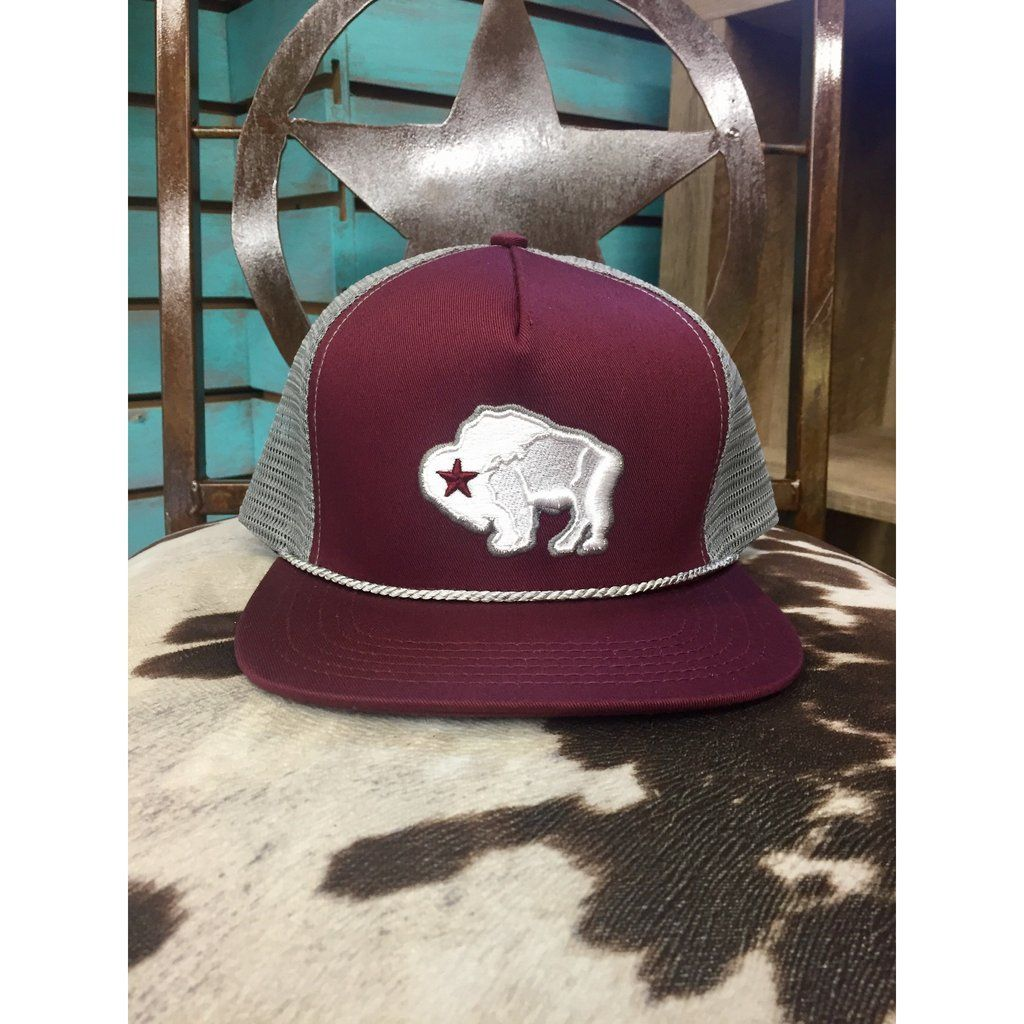 HOOey Snapback Trucker American Made Bison Hat  e59c1e97f368