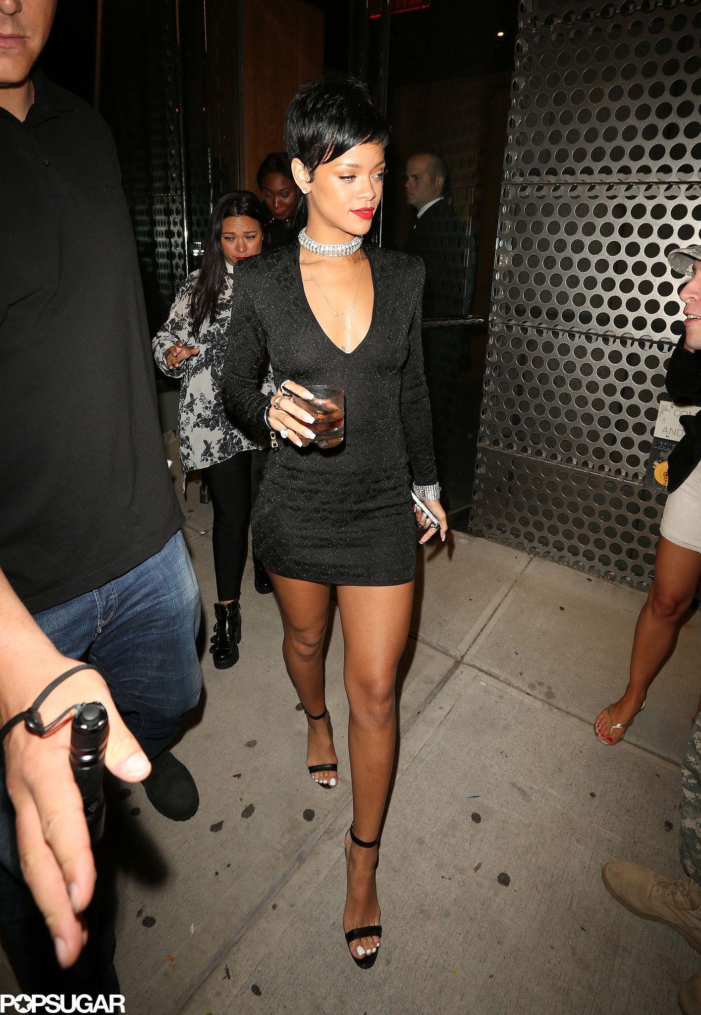 Rihanna Tight Little Black Dress | Nicole Or Rihanna? | Pinterest | Rihanna Celebrity and Black