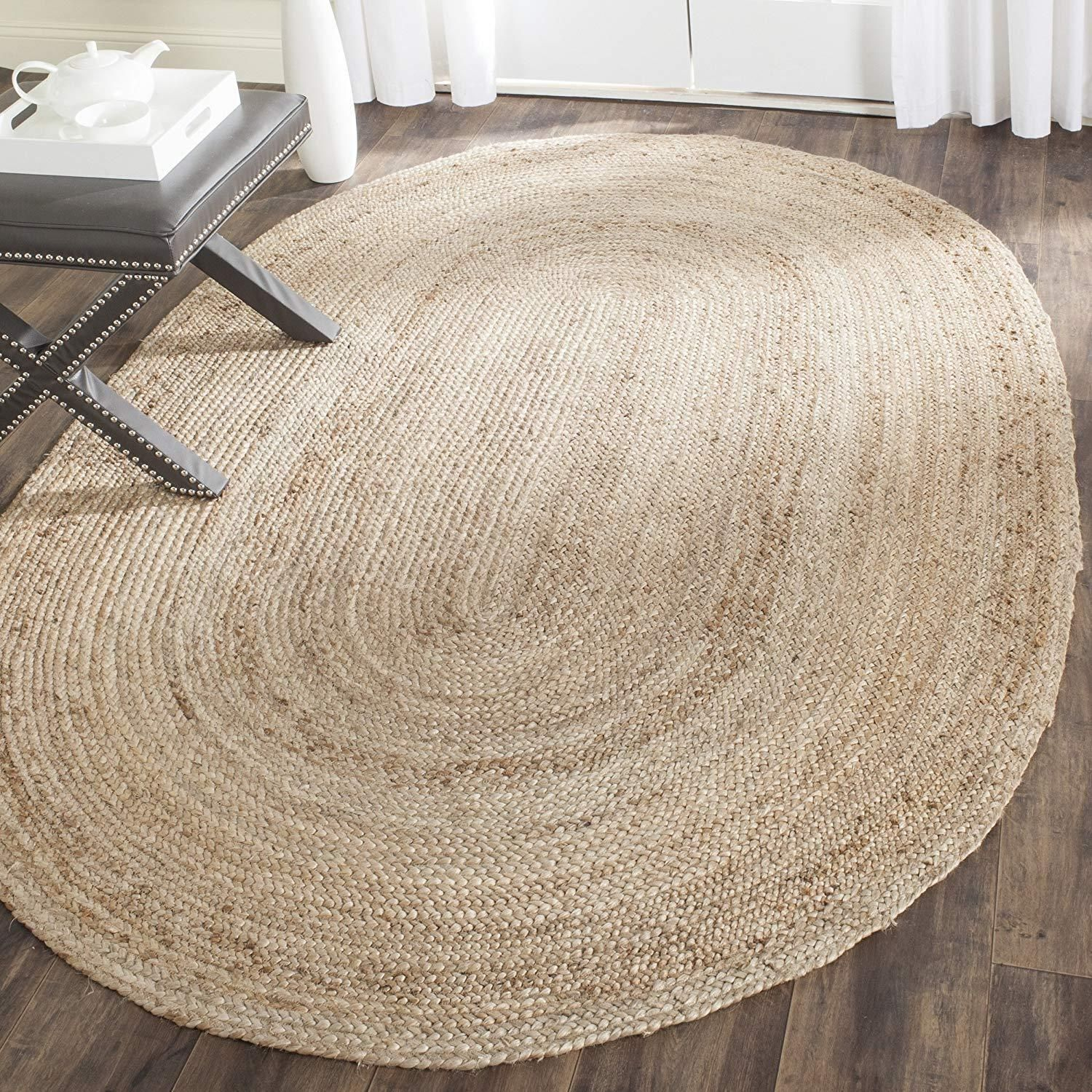 Details About Indian Natural Oval Jute Braided Handmade Home Decoration Carpet Modern Rug In 2020 Natural Jute Rug Jute Area Rugs Jute Floor Rugs