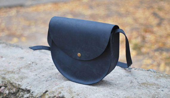 Leather bag, small handmade bag from genuine leather for women, B019