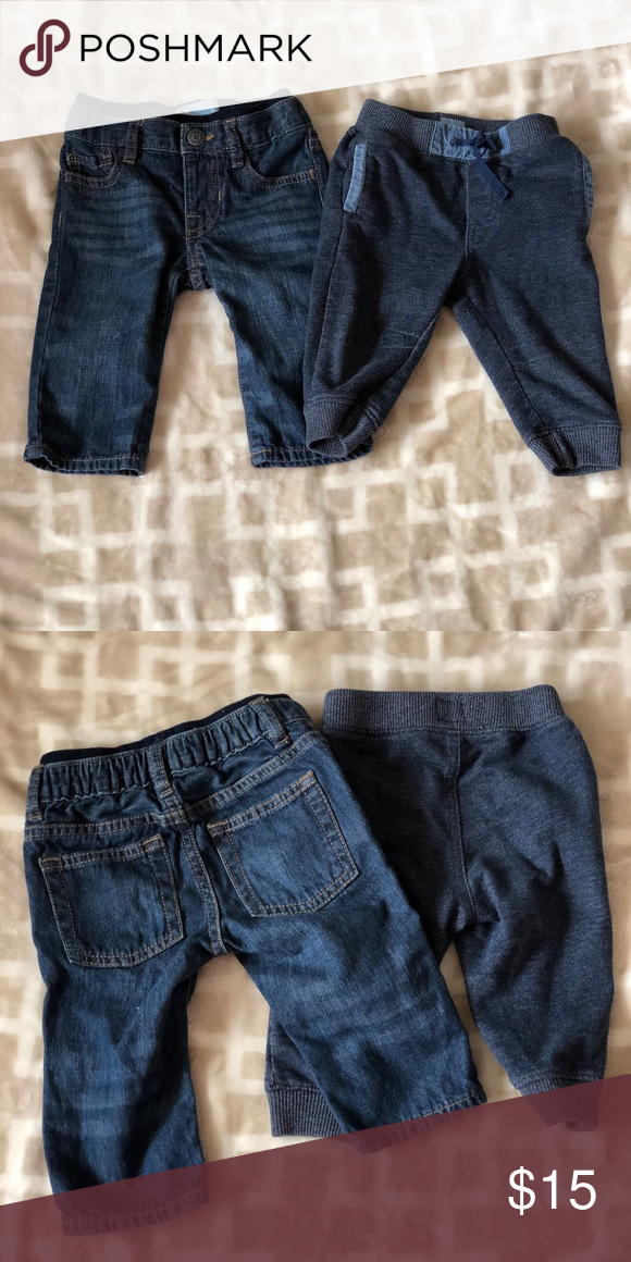 09c15eedd Baby Gap Jean and Joggers Baby Gap straight for jeans and marled blue  joggers Bundle To Save •158 GAP Bottoms