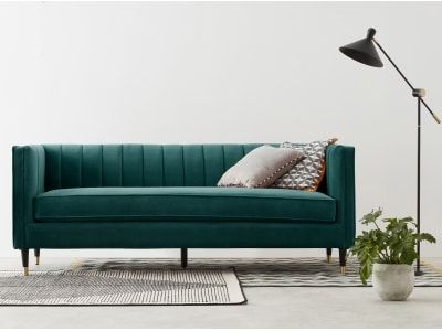 Evadine sitzer sofa samt in meerblau also best sofas images bedrooms room apartment ideas rh pinterest