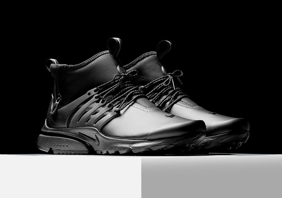 promo code 13230 f13c4 Nike Air Presto Mid Utility Triple Black 859524-003   SneakerNews.com