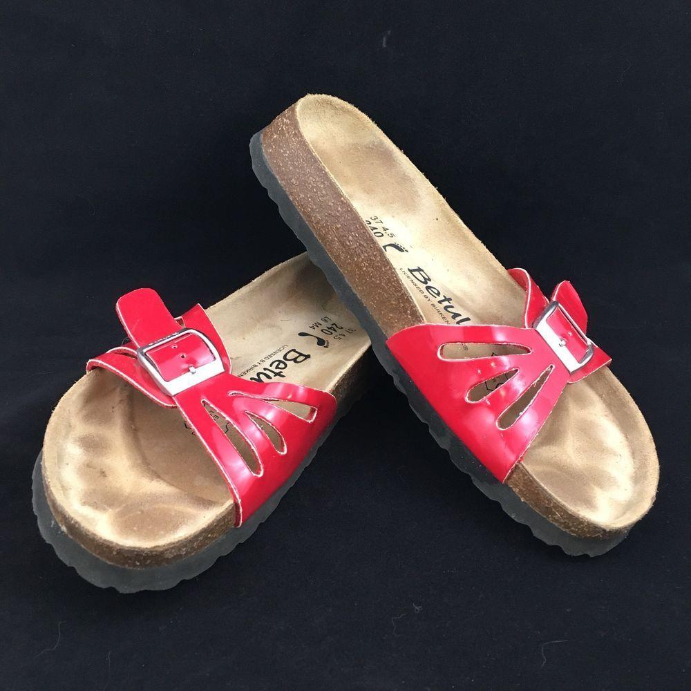 15403c307792 Birkenstock Betula Leslie Single Cutout Strap Slides Sandals Red Size 37 6  6.5  Birkenstock  Slides