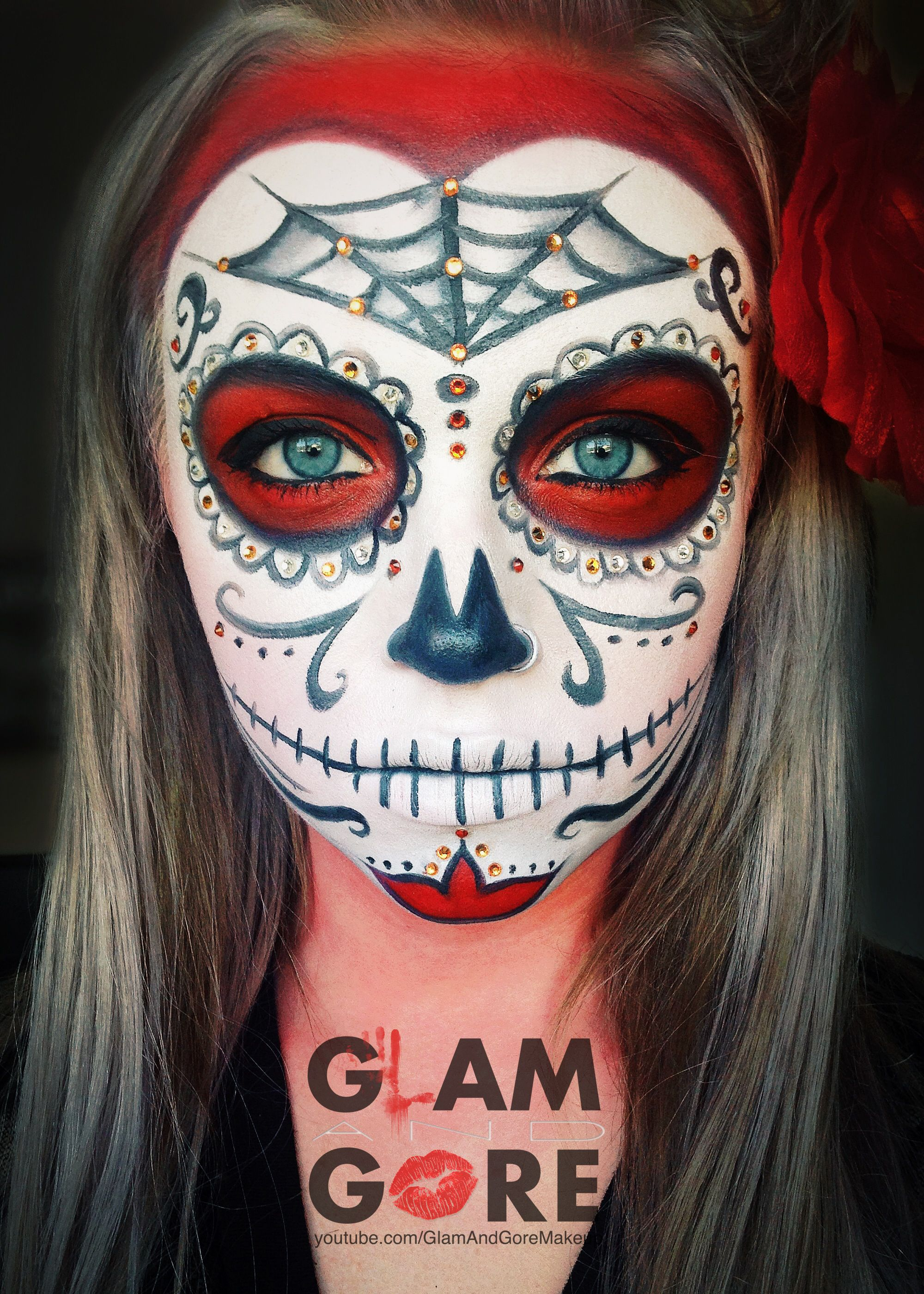 Sugar Skull face paint. For more makeup looks and ...