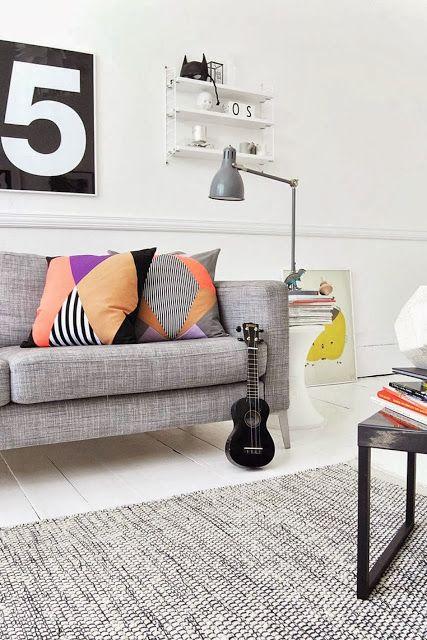 Scandinavisch wonen | Grey lounge, Scandinavian style and Style